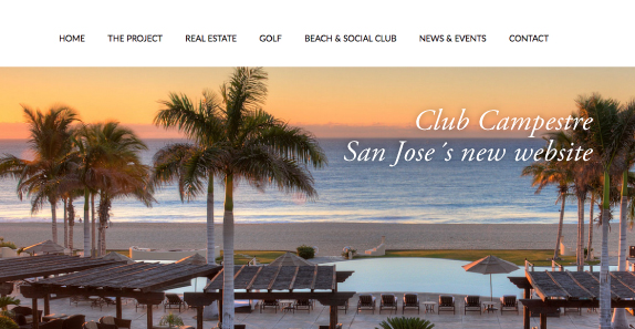 Club Campestre San Jose´s New Website