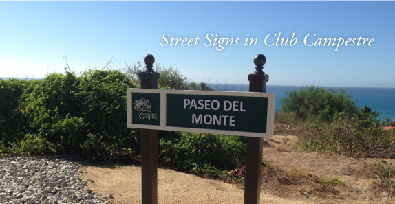 Street Signs in Club Campestre